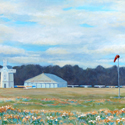 Cape Cod Air Field, painting by Amy Rice