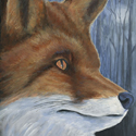 Fox, acrylic painting by Amy Rice