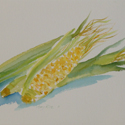 Fresh Pick, watercolor painting by Amy Rice