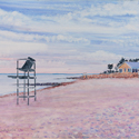 Loop Beach - Cotuit, painting by Amy Rice