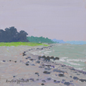 Oregon Beach Cotuit, acrylic painting by Amy Rice
