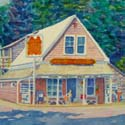 Pleasant Lake General Store - Harwich - Watercolor by Amy Rice
