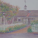 Popponesset Inn, painting bay Amy Rice