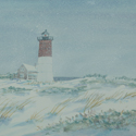 Snowy Nauset, painting by Amy Rice