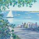 Town Way to Water - Osterville, painting by Amy Rice