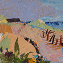 Chapaquiot Beach, Acrylic painting by Cecilia Capitanio