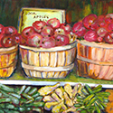 Local Apples, Acrylic painting by Cecilia Capitanio