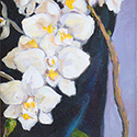 Orchids, Acrylic painting by Cecilia Capitanio