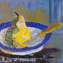 Pear Still Life, Acrylic by Cecilia Capitanio
