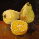 Pears, Oil painting by Cecilia Capitanio