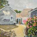 Popponessett Market, Acrylic painting by Cecilia Capitanio
