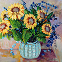 Sunflowers, Acrylic painting by Cecilia Capitanio