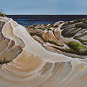 Afternoon Dunes, acrylic by Chirs O'Dell Ferguson