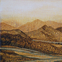 Amber Mountians, acrylic by Chris O'Dell Ferguson