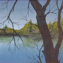 Eagle Pond, Acrylic by Chris O'Dell Ferguson