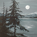 Evening Tranquility, Acrylic by Chirs O'Dell Ferguson
