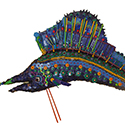 Gamepiece Sailfish, Wall Sculpture by Chris O'Dell Ferguson