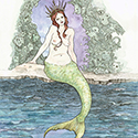 Mermaid with Red Hair by Jessie Nickerson