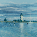 Edgartown Light by John Woodruff