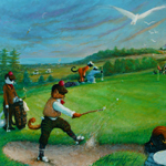 Golf Catties by John Woodruff