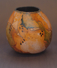 Hand paint gourd by Chris O'Dell Ferguson