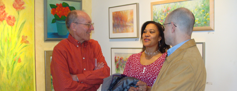 Meeting one of the artists at Woodruff's Art Center