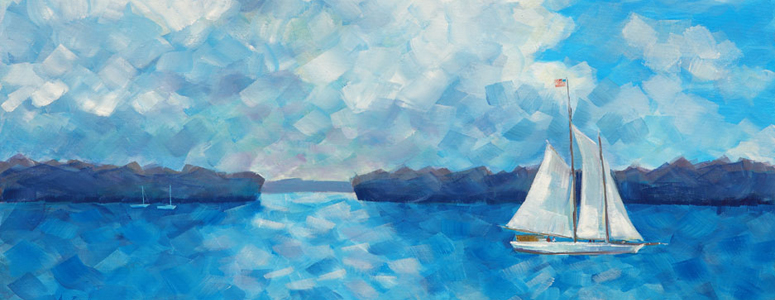 Seaworthy, acrylic painting by Amy Rice
