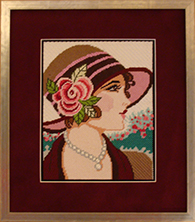 Needlework custom framed