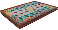 Custom framed needlepoint backgammon board