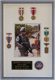 Custom Framed Military Awards and Medals